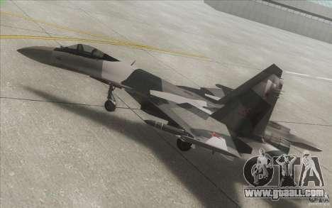 Su-35 BM v2.0 for GTA San Andreas upper view