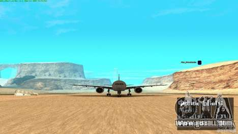 Boeing 777-200 Air Canada for GTA San Andreas back left view