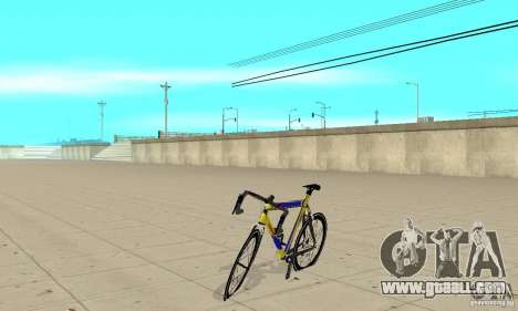 Racing Cycle Turmac Legnano for GTA San Andreas left view