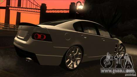 Holden HSV W427 for GTA San Andreas side view