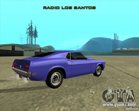 Ford Mustang Boss 429 1969 for GTA San Andreas back view