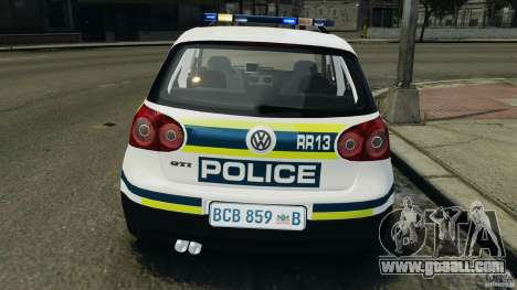 Volkswagen Golf 5 GTI South African Police [ELS] for GTA 4 interior