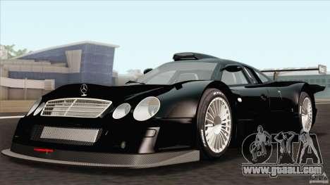 Mercedes-Benz CLK GTR Race Car for GTA San Andreas back view