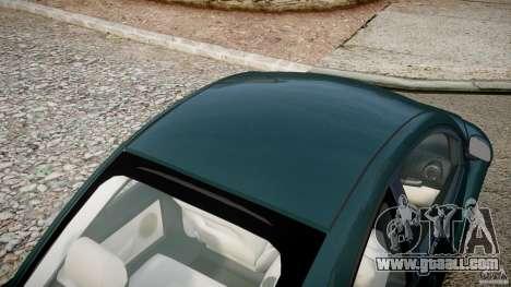 Volkswagen New Beetle 2003 for GTA 4 upper view