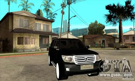 Lexus LX 570 2010 for GTA San Andreas back view