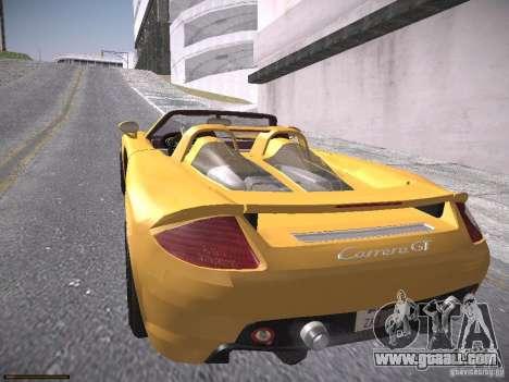 Porsche Carrera GT for GTA San Andreas back left view