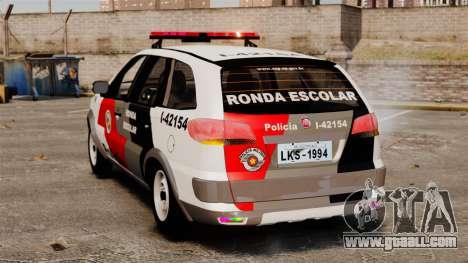 Fiat Palio Weekend Trekking 2013 PMESP ELS for GTA 4 back left view