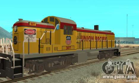 RS3 Diesel Locomotive Union Pacific for GTA San Andreas back left view