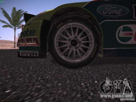 Ford Focus RS WRC 2010 for GTA San Andreas engine