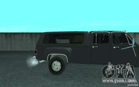 Chevrolet Silverado 3500 for GTA San Andreas interior