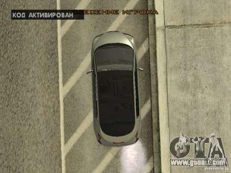 Renault Avantime for GTA San Andreas inner view