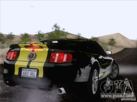 Ford Shelby Mustang GT500 2010 for GTA San Andreas upper view