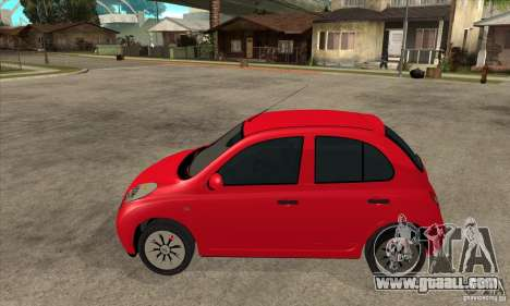 Nissan Micra for GTA San Andreas left view