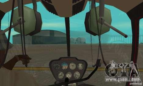 Robinson R44 Raven II NC 1.0 Skin 1 for GTA San Andreas back view