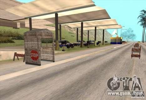 Police post 2 for GTA San Andreas second screenshot