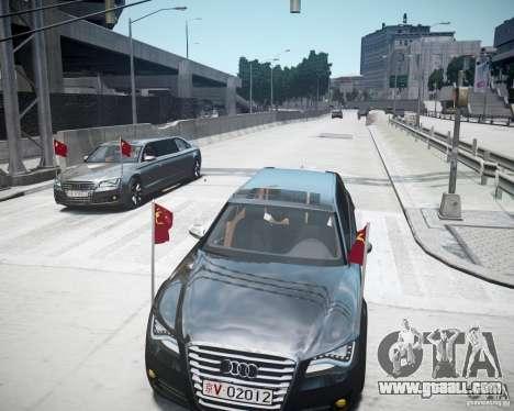 Audi A8 Limo for GTA 4 bottom view