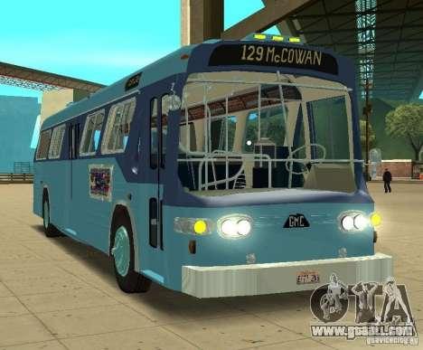 GMC Fishbowl City Bus 1976 for GTA San Andreas left view