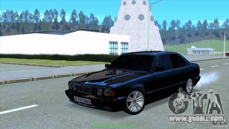 BMW E34 V1.0 for GTA San Andreas back view