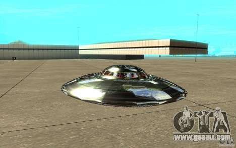 Real UFO for GTA San Andreas back left view