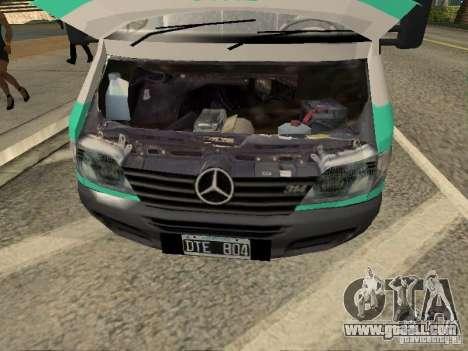 Mercedes Benz Sprinter SAME for GTA San Andreas right view