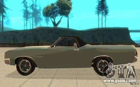 Chevrolet El Camino 1972 for GTA San Andreas left view