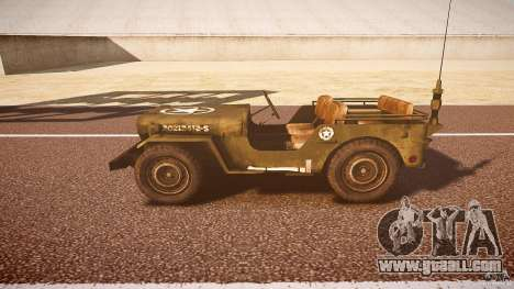Walter Military (Willys MB 44) v1.0 for GTA 4 left view