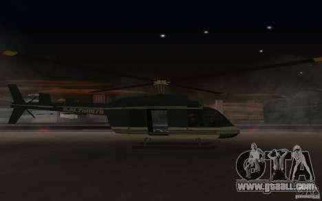 GTA IV Maverick for GTA San Andreas back left view