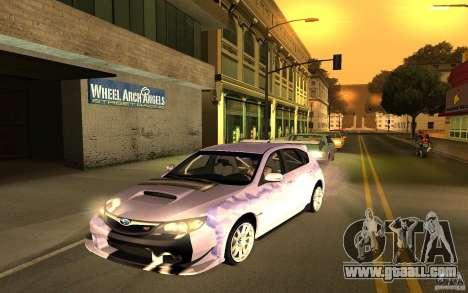Subaru Impreza WRX STI 2008 Tunable for GTA San Andreas back view