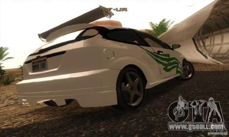 Ford Focus SVT TUNEABLE for GTA San Andreas side view