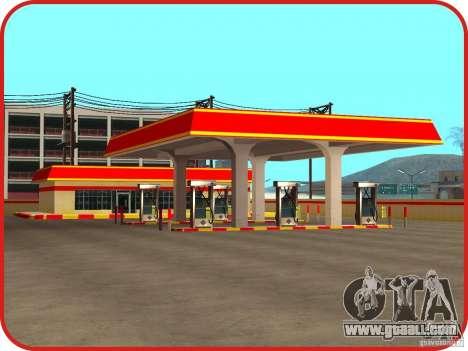 New Shell gas station for GTA San Andreas third screenshot