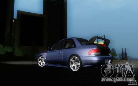 Subaru Impreza 22B for GTA San Andreas inner view