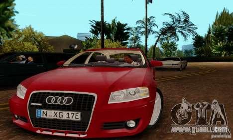 Audi A3 Sportback 3.2 Quattro for GTA San Andreas back left view