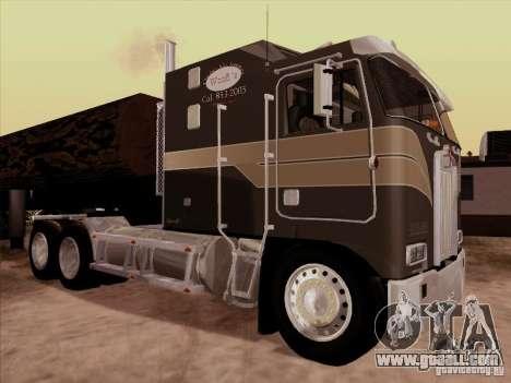 Kenworth K100 Aerodyne trailer for GTA San Andreas back view