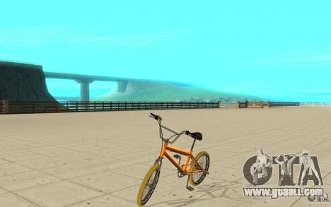 Zeros BMX YELLOW tires for GTA San Andreas