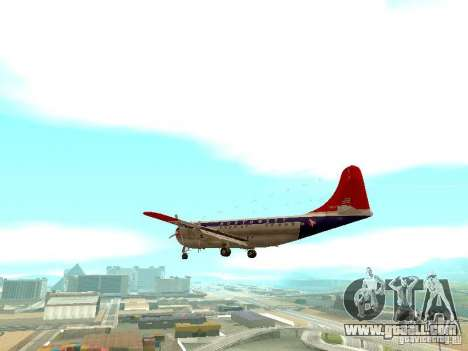 Boeing 377 Stratocruiser for GTA San Andreas back left view