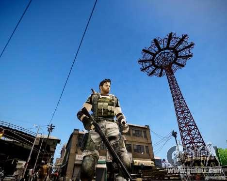 Chris from Resident Evil 5 for GTA 4 third screenshot