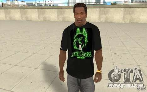 Pit bill t-shirt for GTA San Andreas