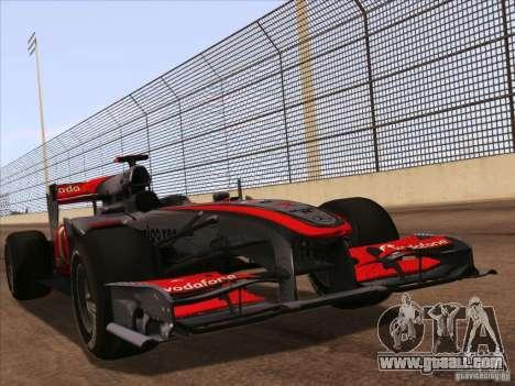 McLaren MP4-25 F1 for GTA San Andreas
