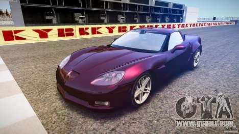 Chevrolet Corvette C6 Z06 for GTA 4 back view