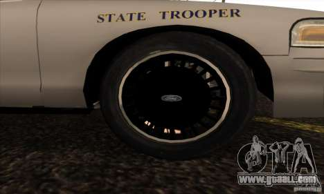 Ford Crown Alabama Police for GTA San Andreas right view