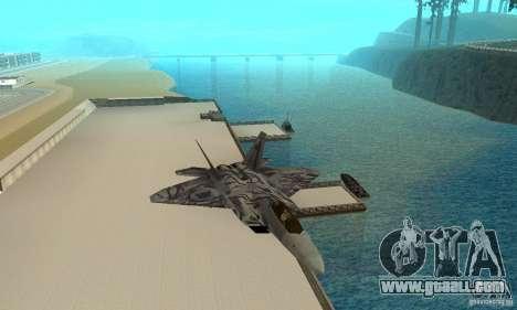 F-22 Starscream for GTA San Andreas side view
