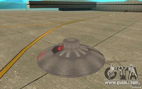 UFO Atack for GTA San Andreas back left view