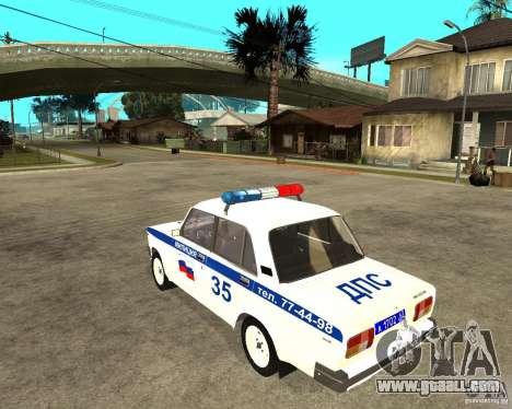 Vaz 2105 DPS for GTA San Andreas left view