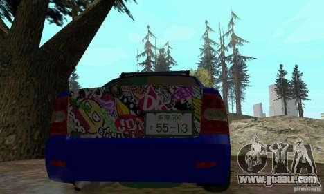 LADA 2170 JDM for GTA San Andreas back view