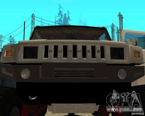 Hummer H2 MONSTER for GTA San Andreas side view