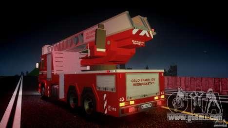 Scania Fire Ladder v1.1 Emerglights red [ELS] for GTA 4 wheels