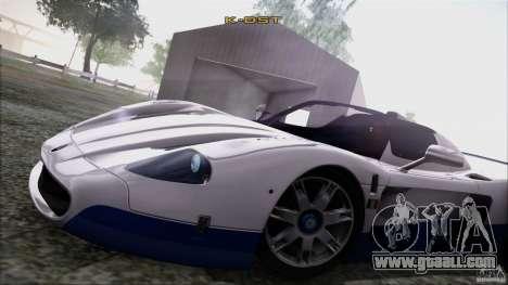 Maserati MC12 V1.0 for GTA San Andreas upper view