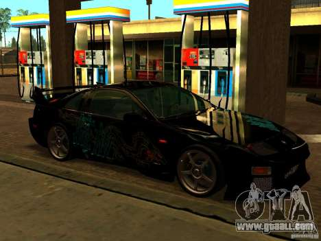 Nissan 300ZX for GTA San Andreas inner view