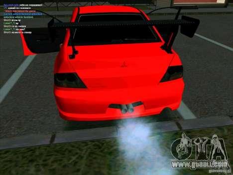 Mitsubishi Lancer Drift for GTA San Andreas back left view