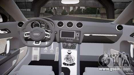 Audi TT RS v3.0 2010 for GTA 4 back view